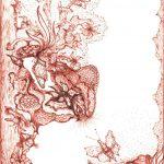 natuur sepia-inkt op kaart