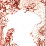 zwanger sepia-inkt op kaart