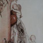 Omhelzing Sepia-inkt 30-40 cm