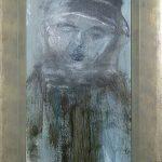 Acrylverf op papier 52-20 cm.
